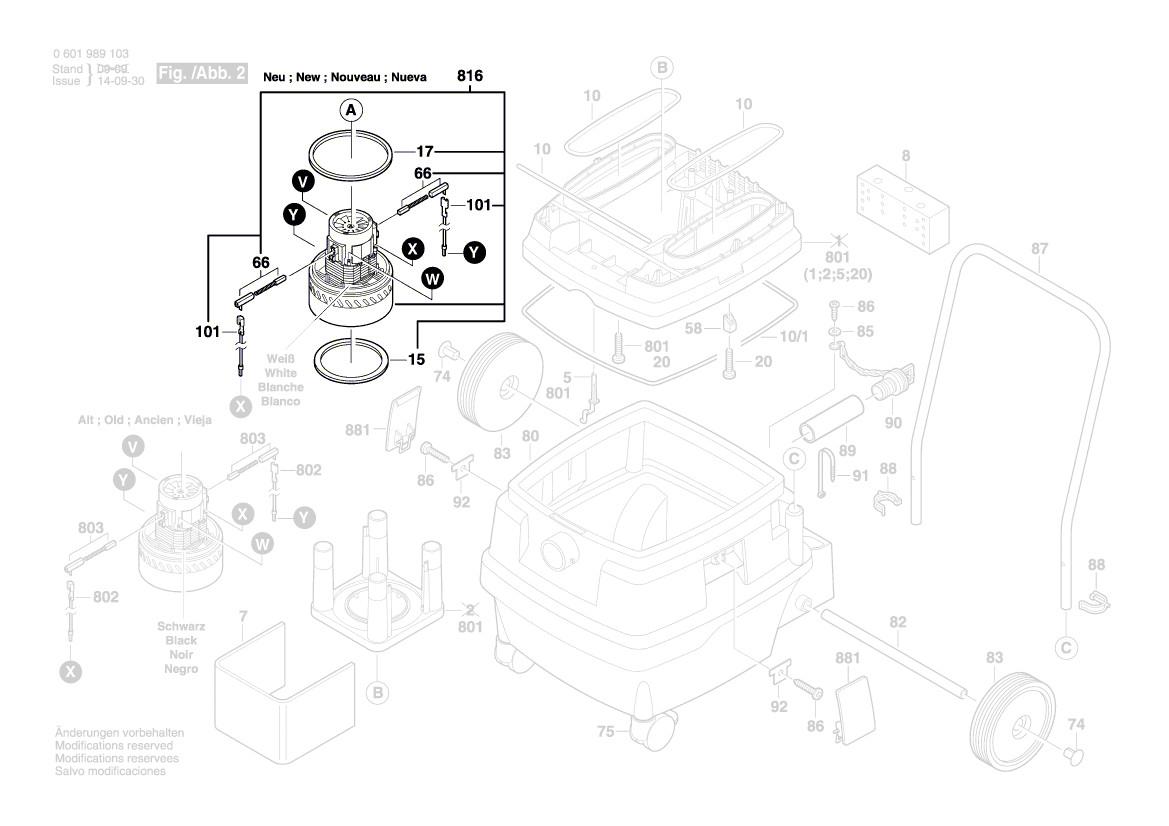 gas 50 gas 25 l sfc gas 12 50 rf bosch moteur aspirateur. Black Bedroom Furniture Sets. Home Design Ideas