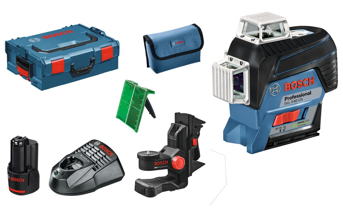 laser chantier multi-lignes vertes gll3-80 cg bosch 3x360