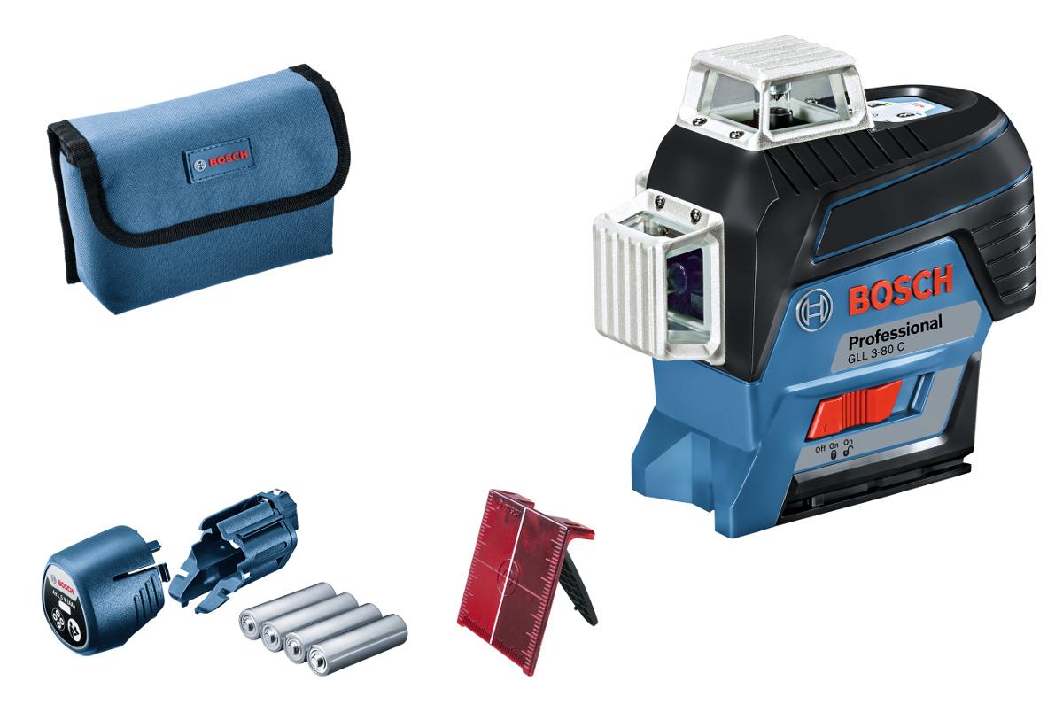 laser chantier multi-lignes gll3-80 c bosch 3x360