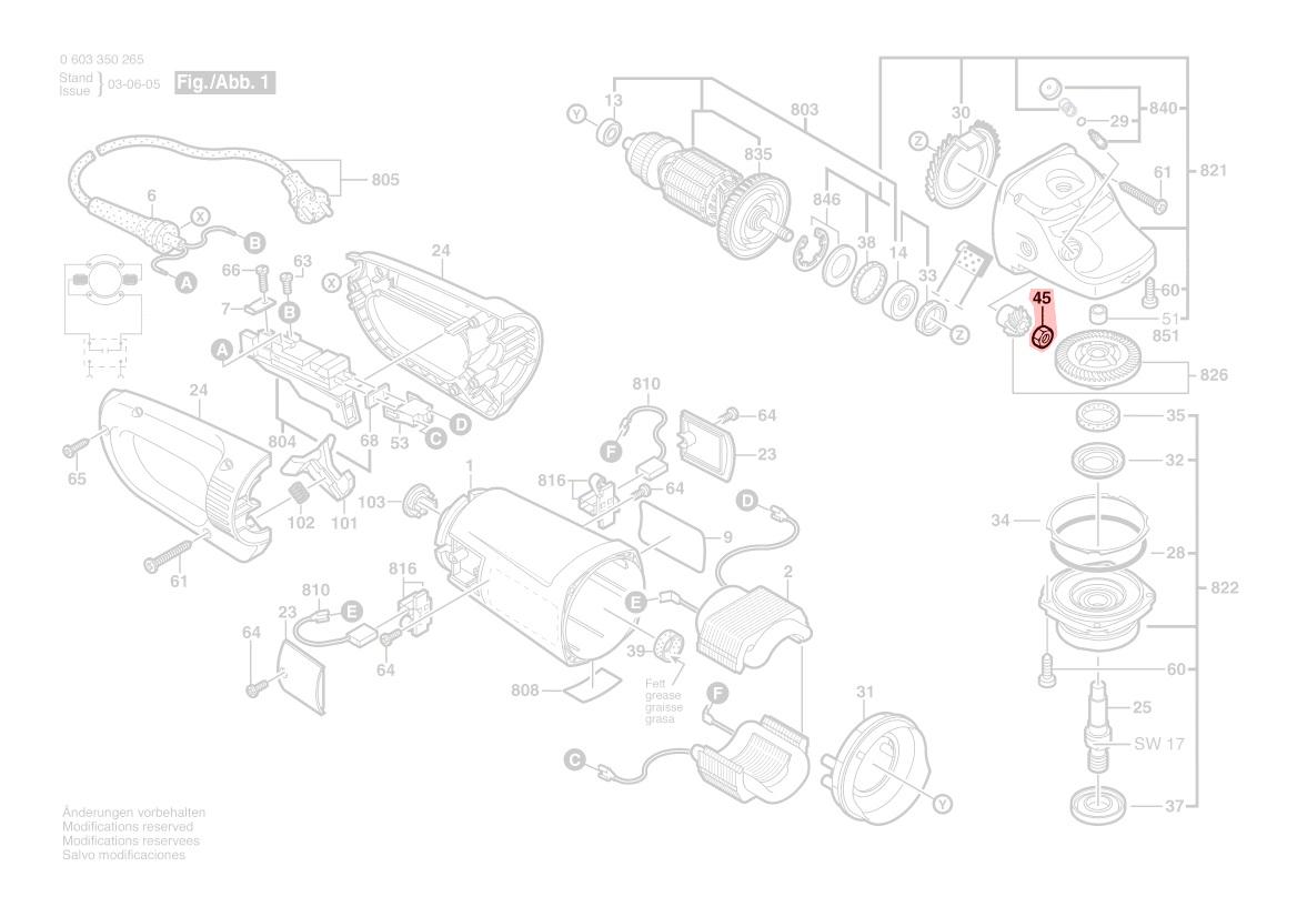 crou pignon meuleuse pws 20 230 pws 21 230 pws 1900 bosch. Black Bedroom Furniture Sets. Home Design Ideas