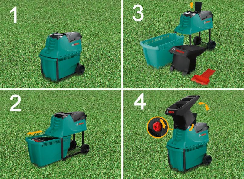 Broyeur de jardin axt 22 d bosch capacit coupe 38 mm for Broyeur de jardin