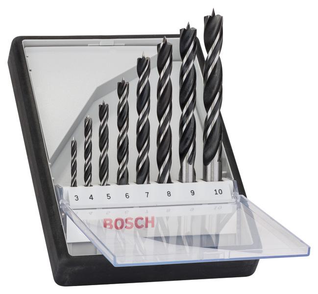 assortiment m che bois for t qualit pro bosch 3mm 10mm 2607010533. Black Bedroom Furniture Sets. Home Design Ideas