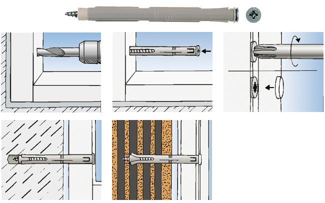 Fixation cadres de fen tre f s fischer - Fenetre interieure dans cloison carreau platre ...