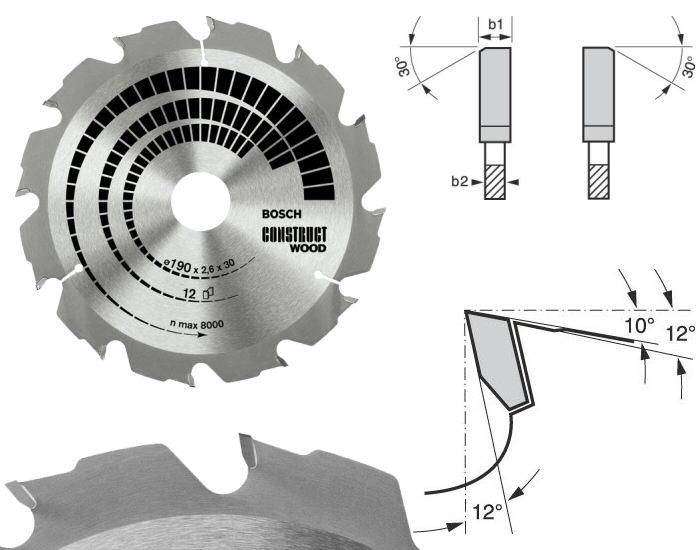 lame scie circulaire construct wood bosch bois clous b ton. Black Bedroom Furniture Sets. Home Design Ideas