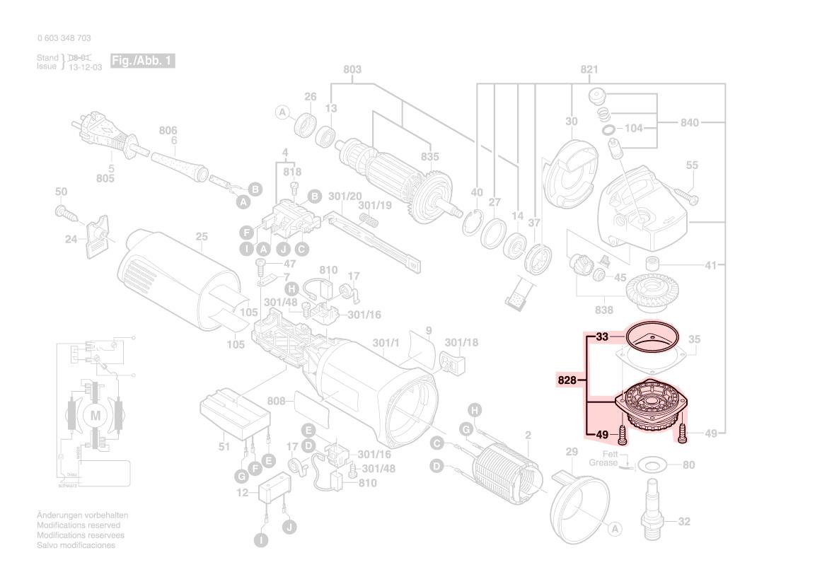 flasque palier pws10 125ce gws10 125ce gws9 125 bosch. Black Bedroom Furniture Sets. Home Design Ideas