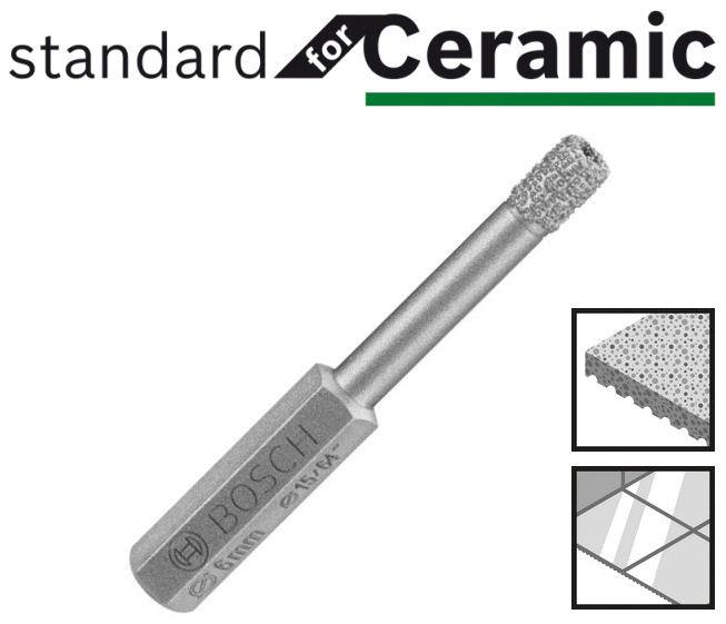 Foret diamant carrelage porcelaine bosch standard for ceramic for Quel foret pour carrelage