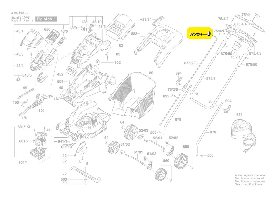interrupteur tondeuse gazon rotak43li rotak37li rotak34li. Black Bedroom Furniture Sets. Home Design Ideas
