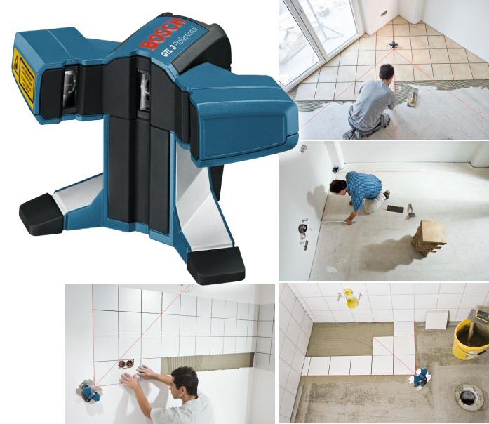 laser pose carrelage gtl3 bosch professional. Black Bedroom Furniture Sets. Home Design Ideas
