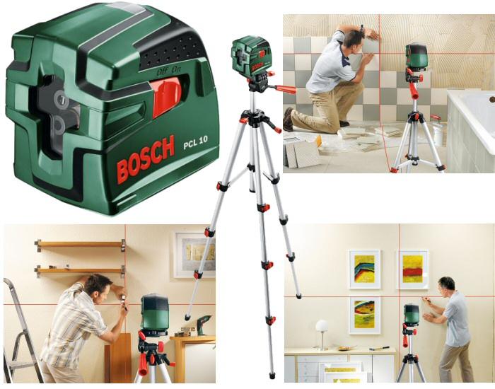 Laser croix pcl 10 bosch tr pied for Niveau laser pcl 10
