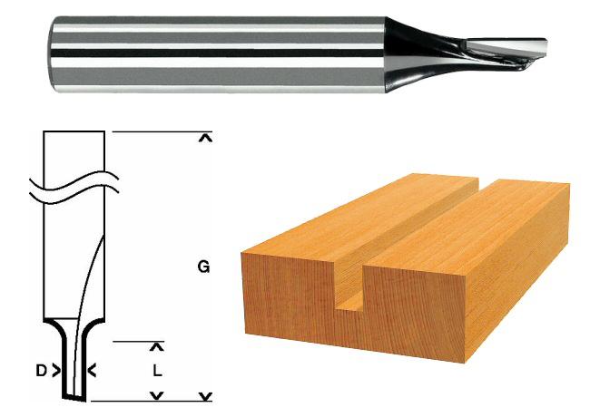 6.35x6.35mm B Baosity Fraises /à Rail Perforateur Fraise /à Rainurer Peu de Routeur Outil Fraise /à Queue