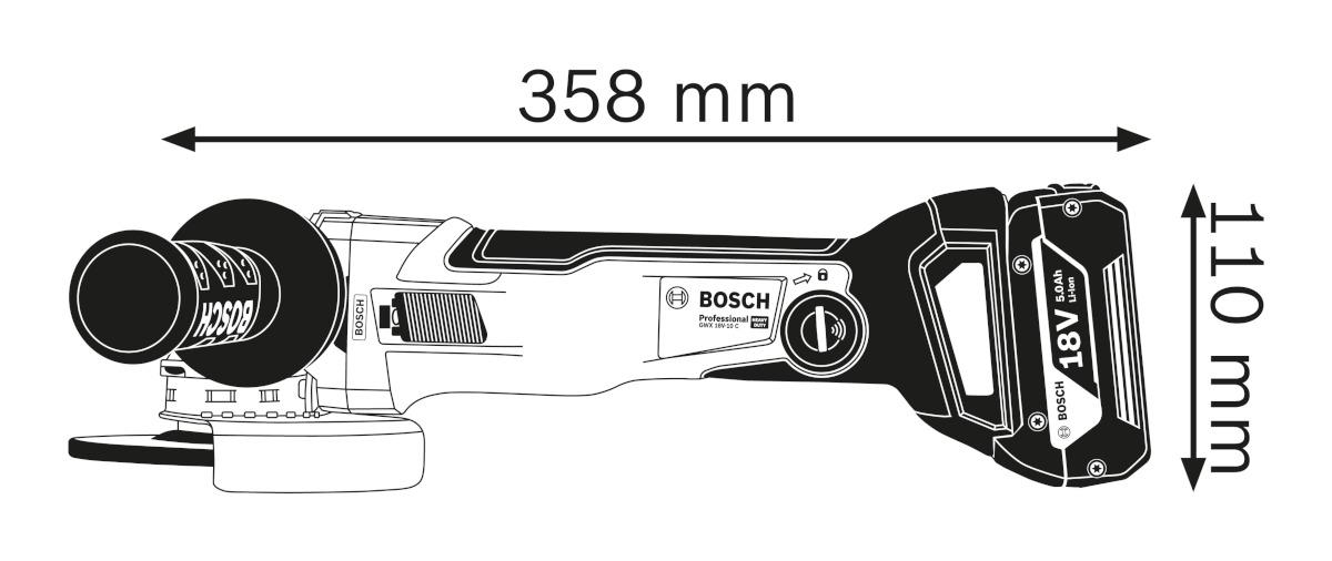 X-Lock Batterie-angle meuleuse GWX 18v-10 PC DANS L-Boxxsans batterie sans chargeur