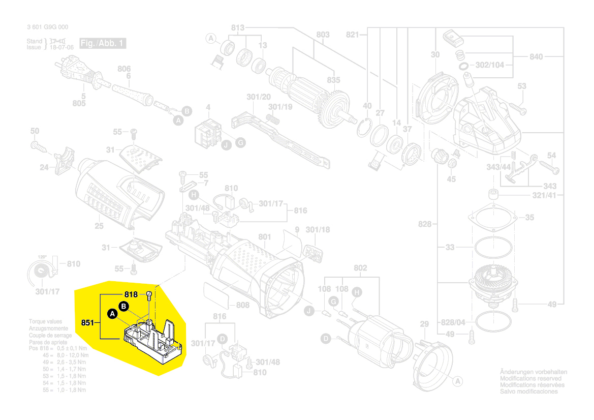 17-150 Cip Ci 17-125 Régulateur de Vitesse Pour Bosch Gws 15-125 15-150
