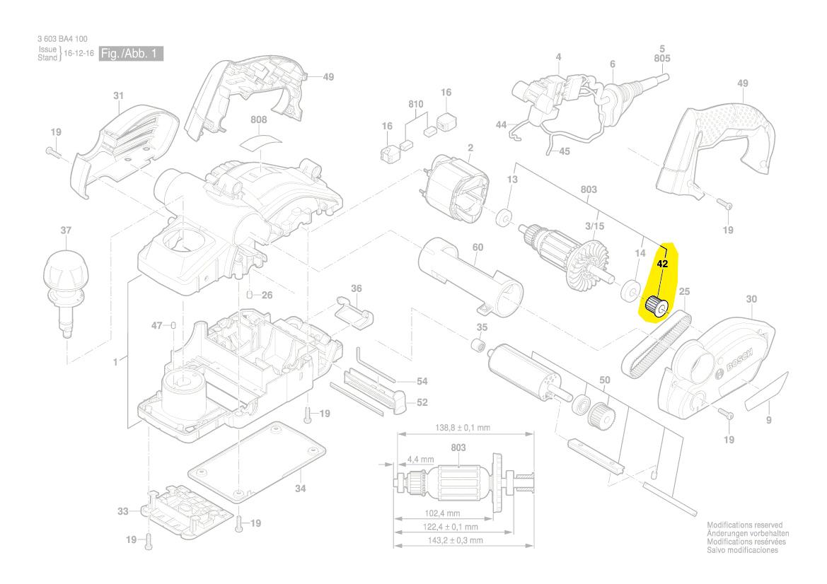 poulie courroie rabot pho 1500 pho 2000 pho 2100 bosch. Black Bedroom Furniture Sets. Home Design Ideas