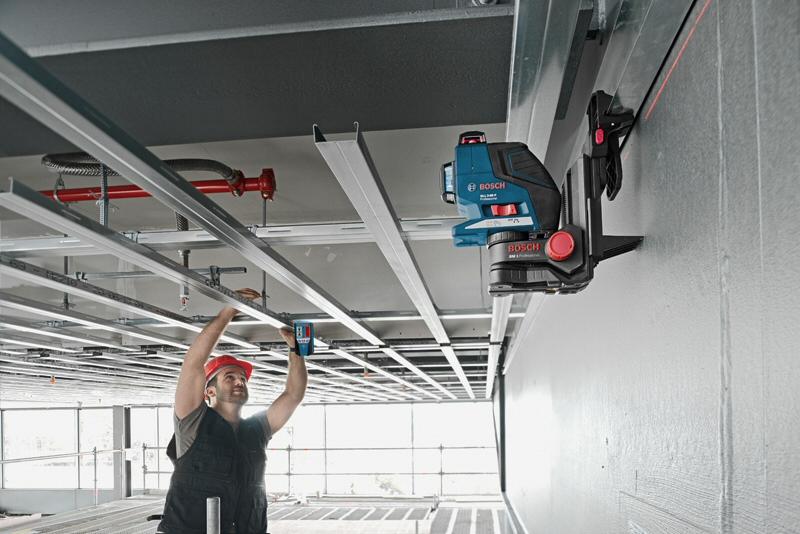 support laser ligne bm 1 bosch pince plafond. Black Bedroom Furniture Sets. Home Design Ideas