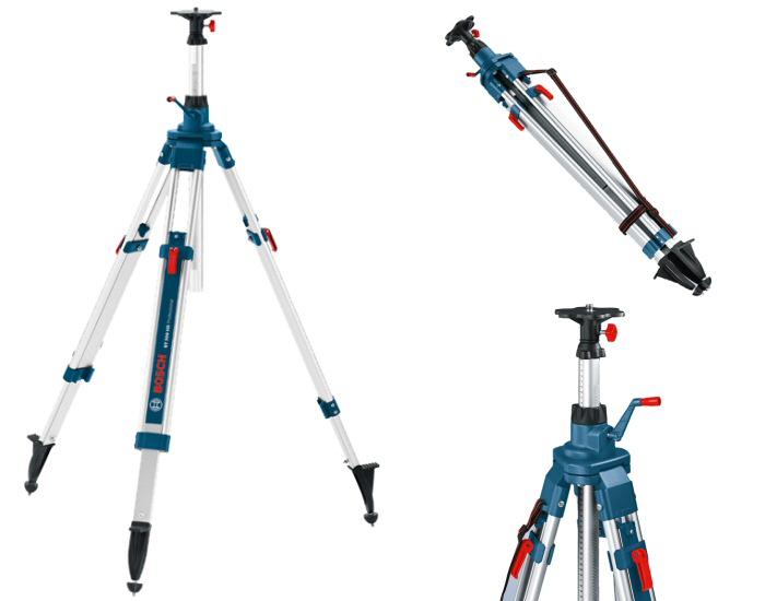 Tr pied de chantier bt 300 hd bosch professional laser for Trepied pour laser bosch